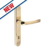 Mila High Security Type B Door Handle Pack Gold PVD