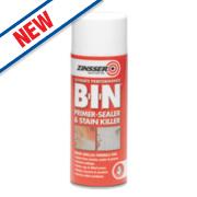 Zinsser B-I-N Primer/Sealer & Stain Killer Spray Matt White 400ml