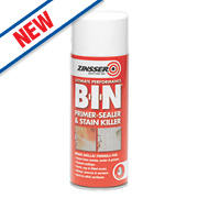 Zinsser B-I-N Primer/Sealer & Stain Killer Spray Matt White 400ml