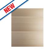 Oak Kitchens Slab 600 Pan Drawer Fronts 596 x 732mm