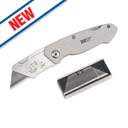 Forge Steel Lockback Knife & 6 Blades