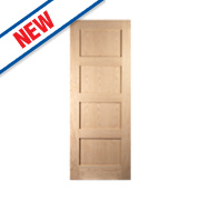 Jeld-Wen Shaker 4-Panel Interior Door Oak Veneer 2040 x 726mm