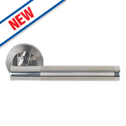Eurospec Philadelphia Lever on Rose Door Handles Pair Satin Stainless Steel