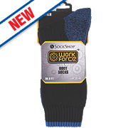 Sock Shop Safety Toe Boot Socks Black Size 6-11 Pair