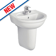 Ideal Standard Alto Semi-Pedestal Cloakroom Basin 1 Tap Hole 450mm