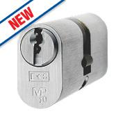 Eurospec 5-Pin Master Keyed Oval Cylinder Lock 30-30 (60mm) Polished Chrome