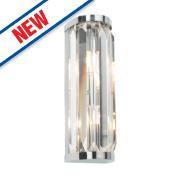 Saxby Crystal Bathroom Wall Light Chrome G9 36W