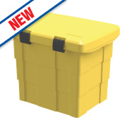 Grit / Salt Storage Bin 100tr Yellow
