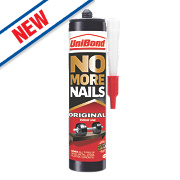 Unibond No More Nails Solvent-Free Grab Adhesive White 365ml