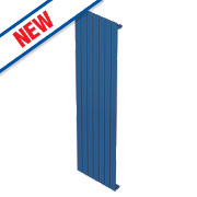 Moretti Modena Single Panel Vertical Designer Radiator Blue 1800 x 288mm