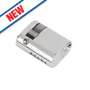 Eurospec 5-Pin Keyed Alike Single Oval Cylinder Lock 45mm Polished Chrome