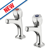 Armitage Shanks Sandringham 21 High Neck Pillar Taps