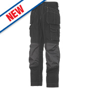"Snickers Rip-Stop Pro-Kevlar Floorlayer Trousers Grey / Black 33"" W 35"" L"