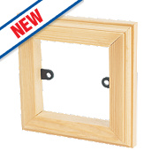 Varilight 1-Gang Light Switch Frame Surround Antique Pine