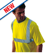 "Dickies Hi-Vis Safety T-Shirt Yellow Medium 42"" Chest"