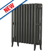 Arroll Neo Classic 4-Column Cast Iron Radiator Pewter 660 x 634mm