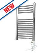 Flomasta Flat Thermostatic Towel Radiator Chrome 700 x 400mm 182W 623Btu