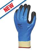 Showa 477 Insulated Nitrile Foam Grip Gloves Blue/White/Black Large
