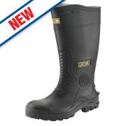 JCB Hydromaster Safety Wellington Boots Black Size 10
