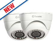 Swann PRO-743PK2 Dome CCTV Security Camera Twin Pack Pack of 1