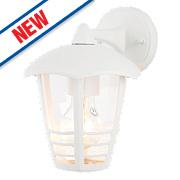 Zinc Perdita White Lantern Wall Light 60W