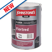 Johnstones Semi-Gloss Floor Paint Tile Red 5Ltr