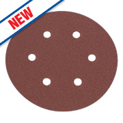 Flexovit Sanding Discs Punched 150mm Assorted Grit Pack of 6