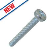 Easyfix Bright Zinc-Plated Pan Head Machine Screws M4 x 30mm 25 Pack