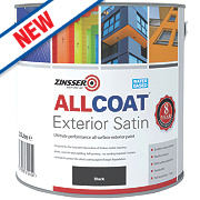Zinsser All Coat Exterior Paint Black 2.5Ltr