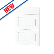 White Profiled 500 Pan Drawer Fronts 496 x 732mm