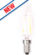 LAP Candle LED Filament Lamp Clear SES 4W