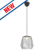 Philips Italo LED Glass Pendant Ceiling Light Grey 5.5W