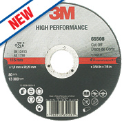 3M High Performance Metal Cutting Disc 115 x 1 x 22.23mm Bore