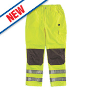 "Hyena K2 Hi-Vis Waterproof Trousers Yellow Large 40-42"" W 32"" L"