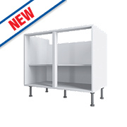 White Base Cabinet 1000 x 570 x 880mm