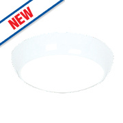 Saxby Vigor LED Surface Fitting LED Bulkhead Gloss White mm 16W