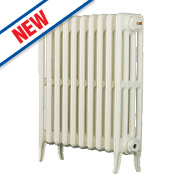 Arroll Neo Classic 4-Column Cast Iron Radiator White 660 x 634mm