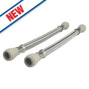 JG Speedfit Push-Fit Flexible Tap Connector Hoses 15 x 15 x 300mm Pk2