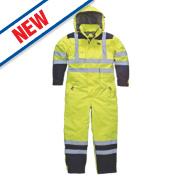 Dickies SA7000 Hi-Vis Waterproof Safety Coverall Yellow M 42