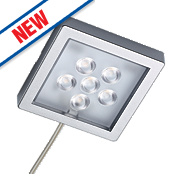 Sensio Largo LED Cabinet Surface Lights Aluminium Pack of 4