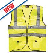 "Dickies Hi-Vis Waistcoat Saturn Yellow Extra Large 50"" Chest"