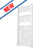 Flomasta Flat Ladder Towel Radiator White 1100 x 600mm 590W 2013Btu