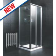 Moretti Bi-Fold Shower Door Square Silver 760 x 1850mm
