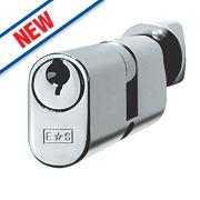 Eurospec Keyed Alike Oval Cylinder Thumbturn Lock 30-30 (60mm) Polished Chrome