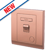 Retrotouch Simplicity 13A Switched Fused Connection Unit with Neon Bronze