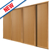 Spacepro 4 Door Panel Sliding Wardrobe Doors Oak 2390 x 2260mm