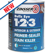 Zinsser Bulls Eye 1-2-3 Primer Sealer 5Ltr
