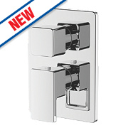Moretti Cascata Built-In Twin Shower Valve & Diverter Fixed Chrome