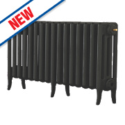 Arroll Neo-Classic 4-Column Cast Iron Radiator Black Primer 460 x 874mm