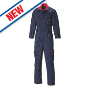 "Dickies Redhawk Front Zip Coverall Navy Large 41"" Chest 30"" L"
